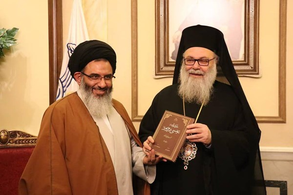 A meeting between the representative of the Supreme Leader with the Greek-Orthodox Patriarch (Aleph, January 2, 2019).